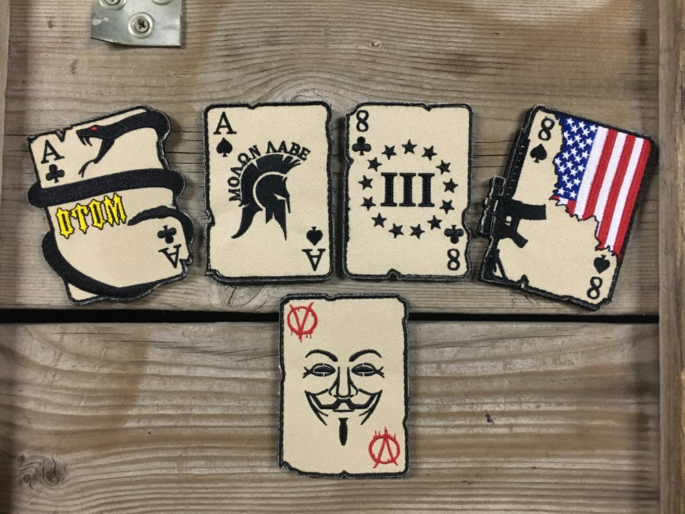"Image of ""ACES & EIGHTS"" 5 Card set"