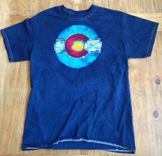 Image of Colorado Flag Batik T
