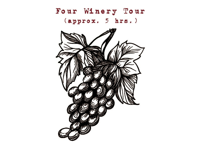 Image of Four Winery Tour - Approx. 5 hrs