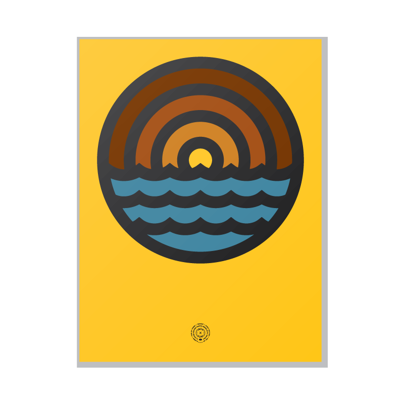 "Image of Draplin ""Waves"" Poster"