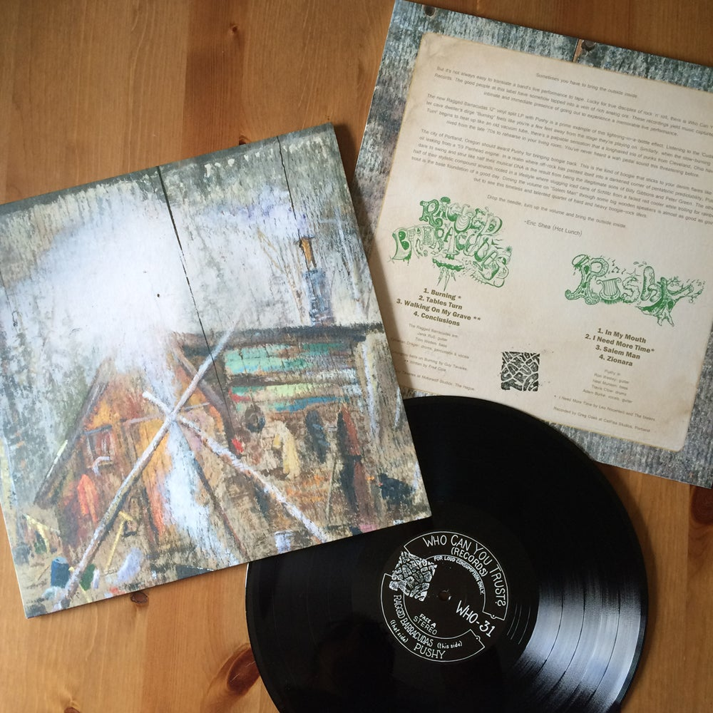 Image of RAGGED BARRACUDAS / PUSHY - split LP