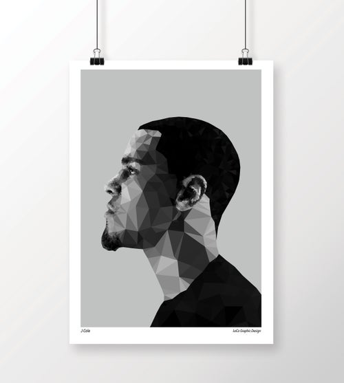"Image of ""J Cole"" Geometric Print"