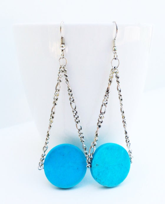 Image of Turquoise Circle Earrings