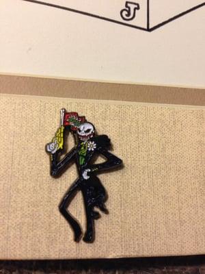 Image of Jack Skellington/Joker mashup original art for pin