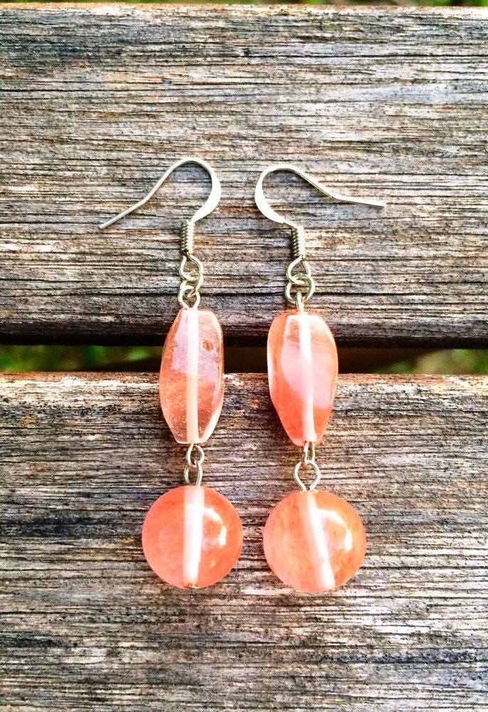 Image of Pink Jasper Earrings