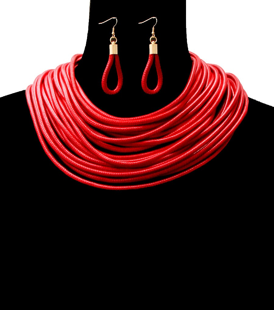 Image of Multi Cords Layers Necklace