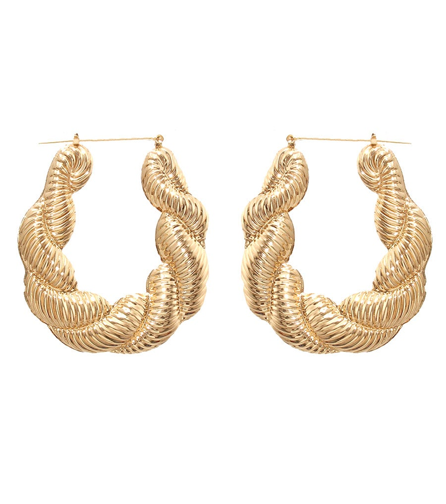Image of Textured Bamboo Earrings