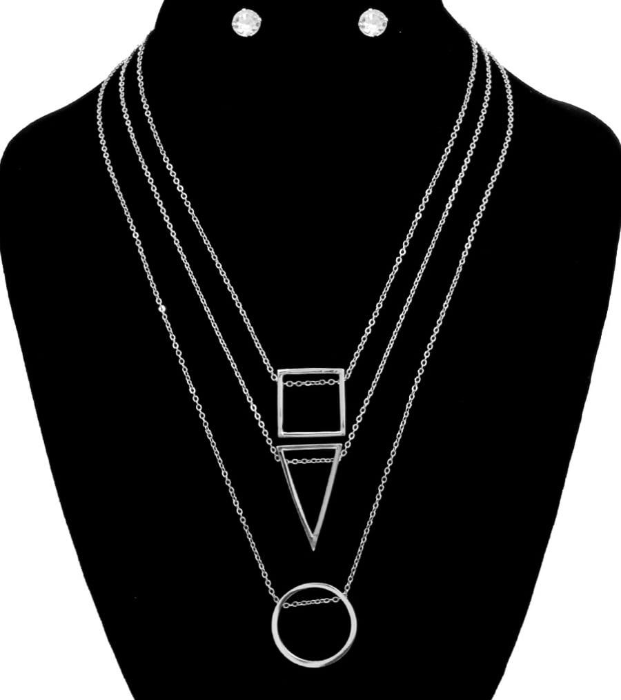 Image of Three Pendants Necklace Set