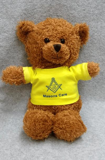 "Image of Masonic 10"" Square Bear (24 Bears Pack) / $10.95 Per Bear"