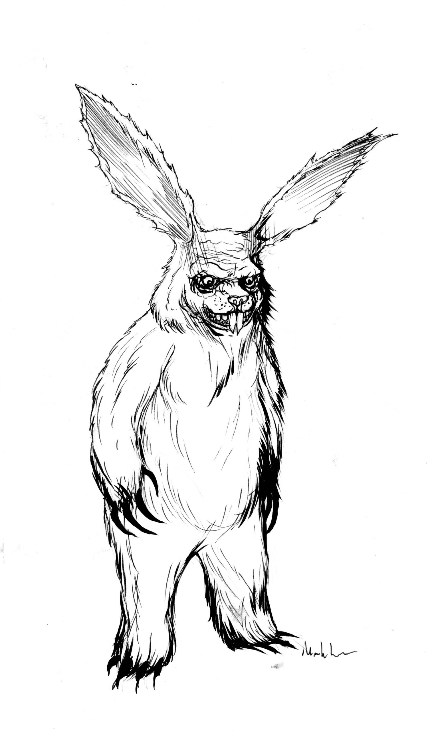 Image of Evil Easter Bunny from bogus journey