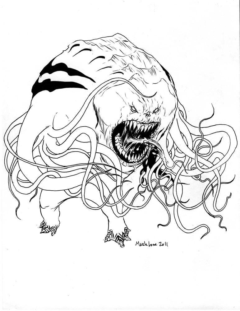 Image of Bad Boy! original inked piece