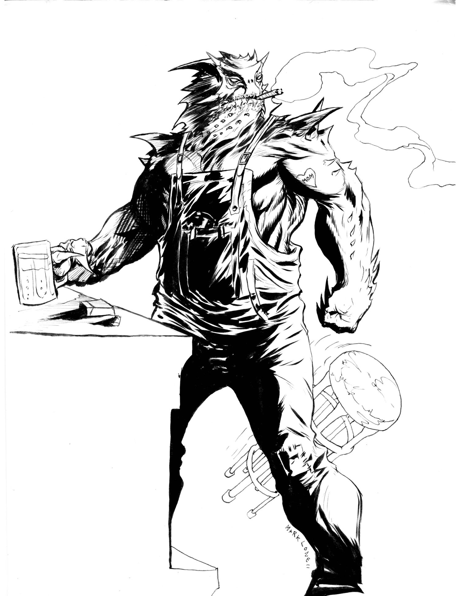 Image of Lizard Jenkins character design sheet