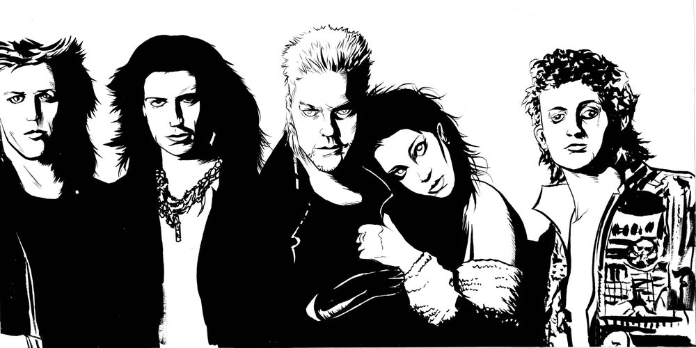 Image of Lost boys hand inked art