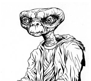 Image of E.T. JEDI original inks