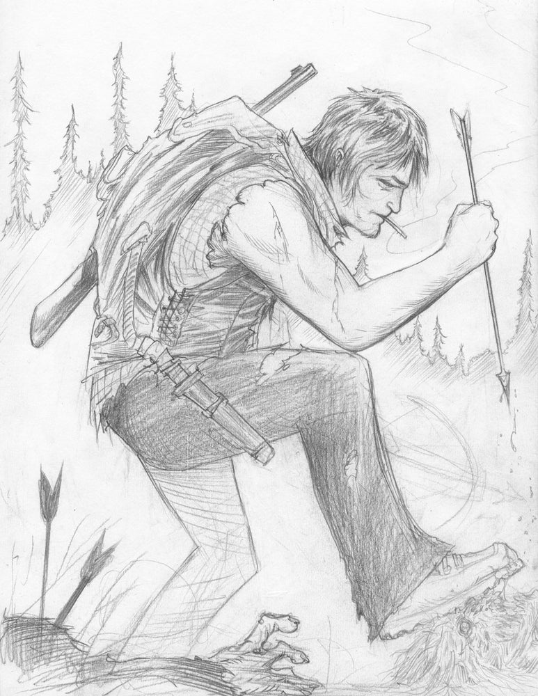 Image of Daryl pencilled piece