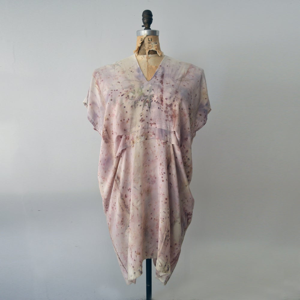 Image of Japanese Maple Silk Kaftan