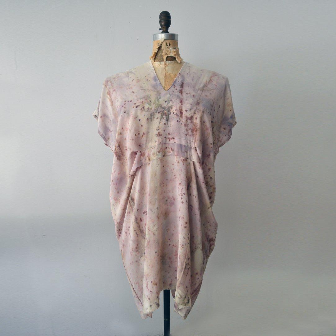 Image of Japanese Maple Silk Kaftan