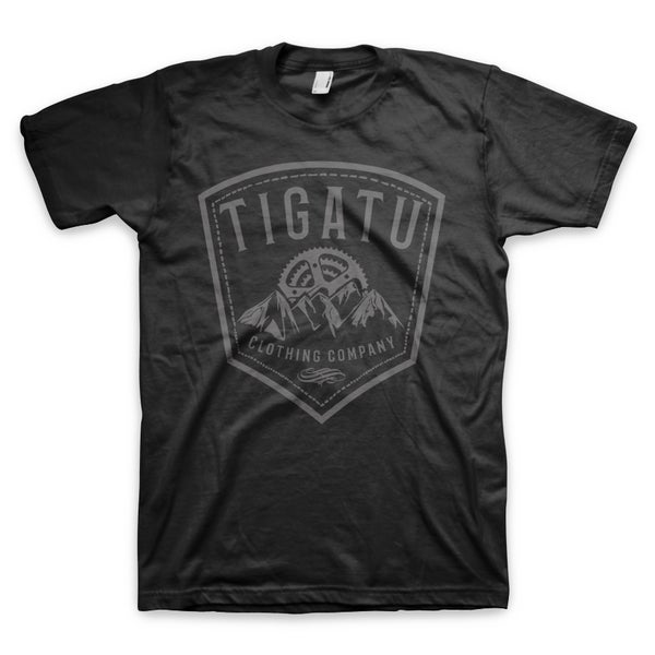 "Image of ""Sprocket Shield"" Men's Tee -  Black"