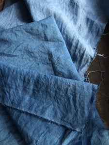 Image of Naturally dyed linen - Indigo