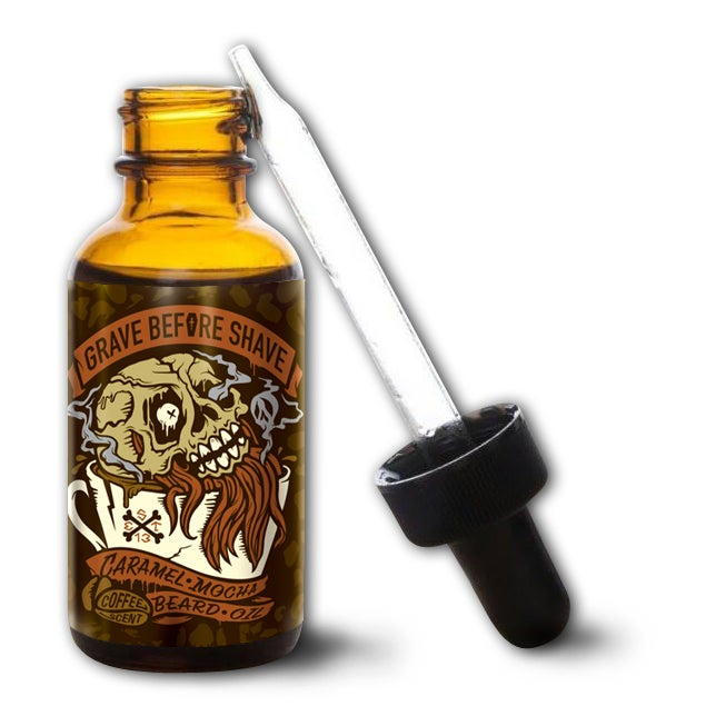 Image of GRAVE BEFORE SHAVE Caramel Mocha Blend Beard Oil (Caramel Mocha Coffee scent)