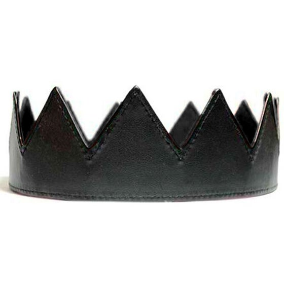 Image of Black Leather Crown