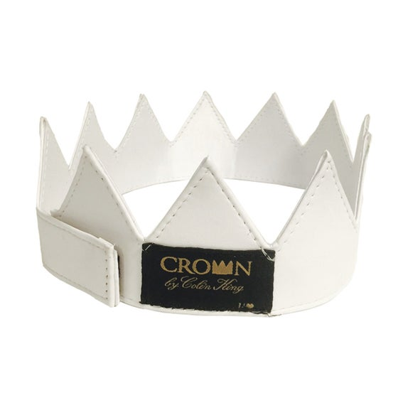 Image of White Leather Crown
