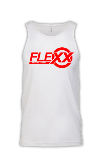 Image of White/Red Men's Flexx Tank