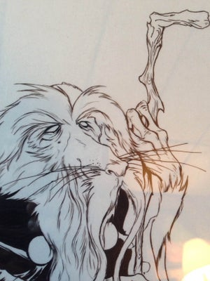 Image of Nicodemus hand inked original piece