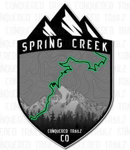 "Image of ""Spring Creek"" Trail Badge"
