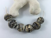 Image of Lampwork beads - Ebony & Ivory