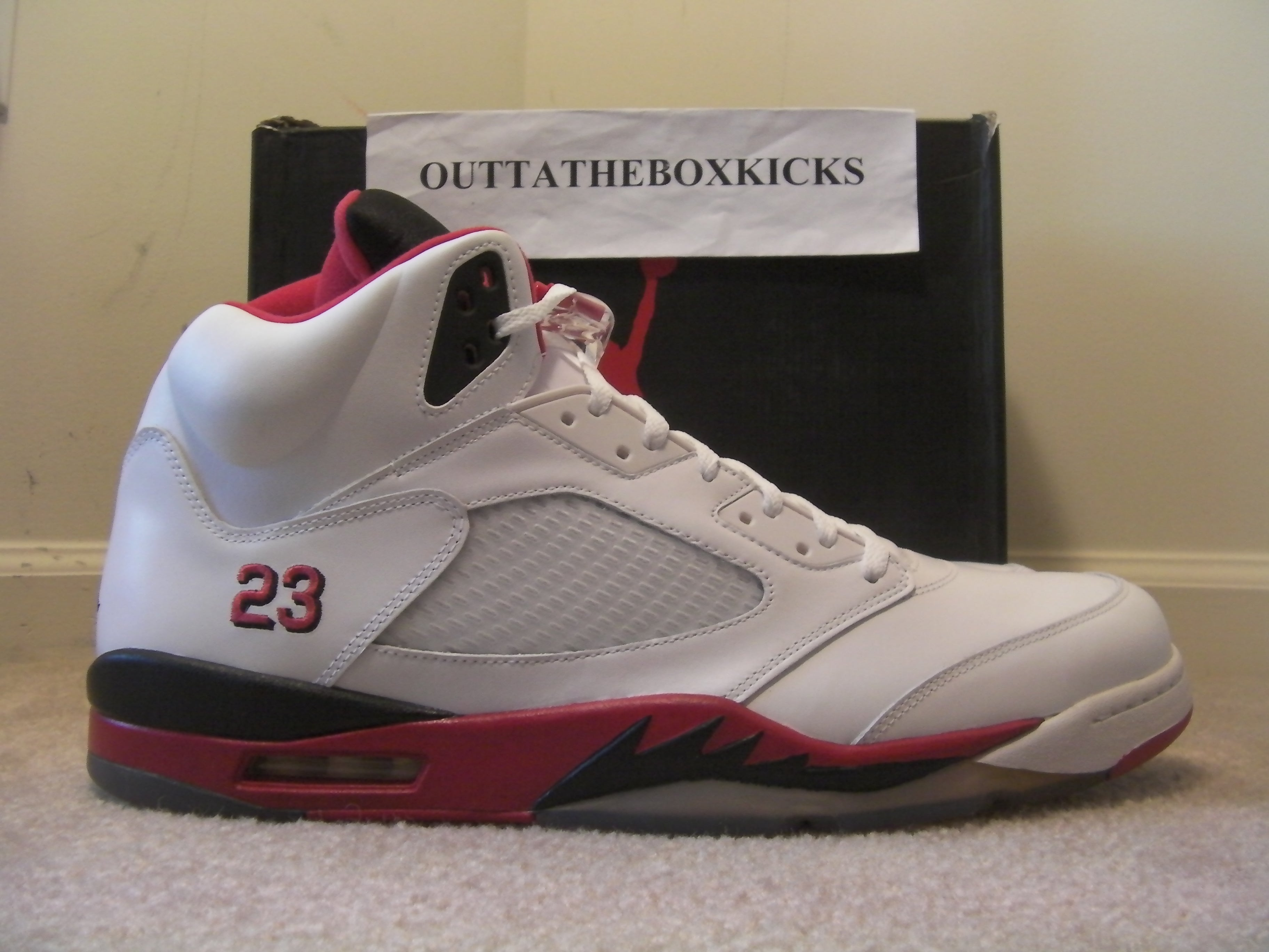 save off 52220 94739 ... discount code for air jordan 5 fire red black tongue 3a262 8a142