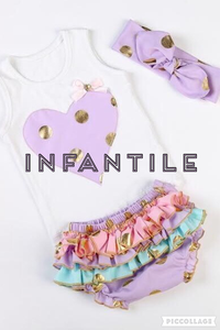 Image of Gold Polka Dot Heart Tank & Ruffle Bloomers, Headband Included, Baby Summer Beach Outfit