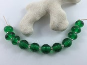 Image of Lampwork beads - Dark Green Set