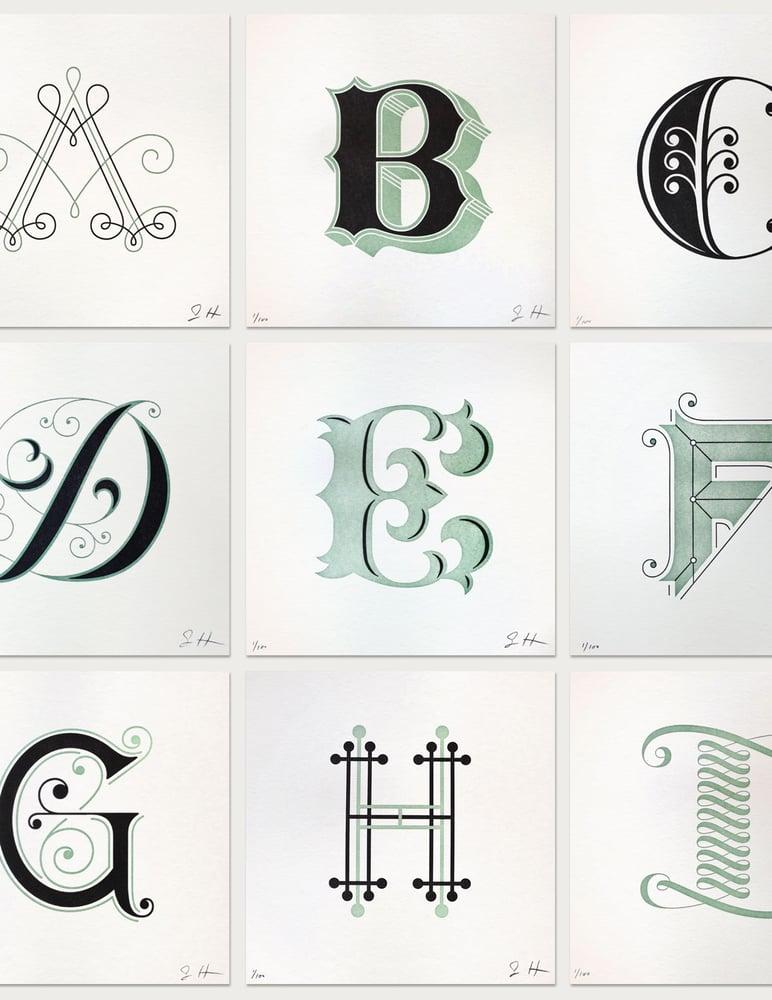 Image of Drop Cap Letterpress Prints