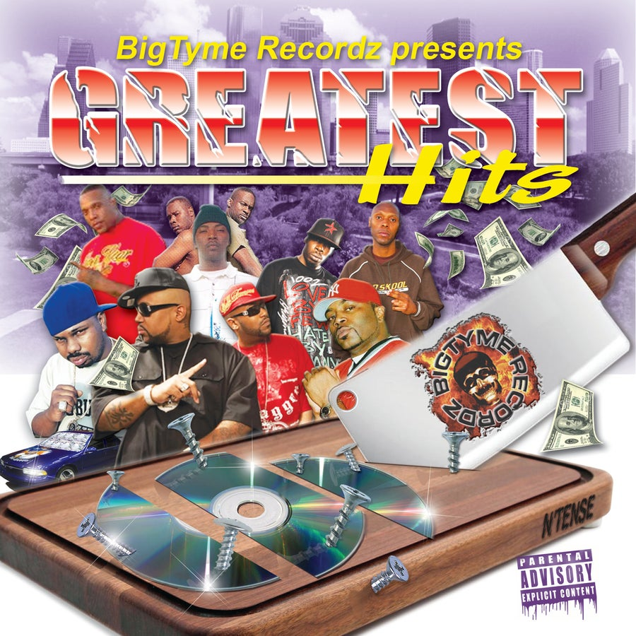 Image of BIGTYME GREATEST HITS  Regular v2 DISC SET screwed and chopped
