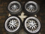 "Image of Porsche 911 993 996 Boxster Split Rim Style 18"" 5x130 Alloy Wheels"