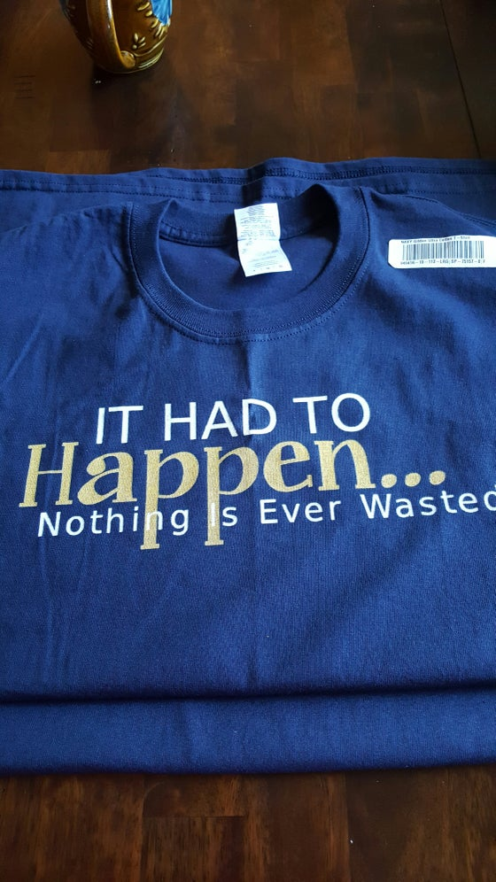 Image of IT HAD TO HAPPEN - MENS TEE - BLUE