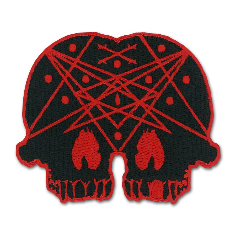 Image of Conjoined Skull Patch - Red Variant