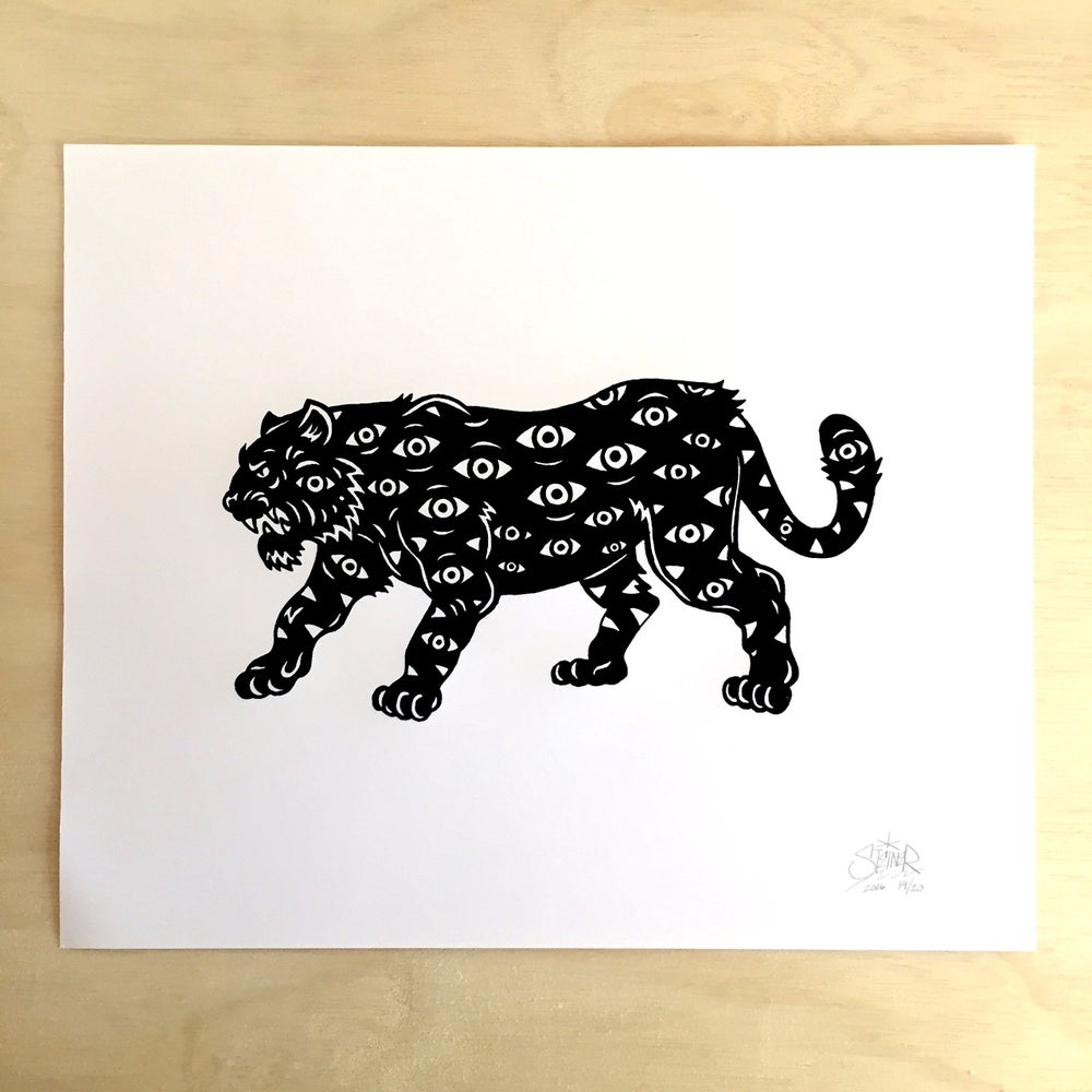 Image of All Seeing Tiger print
