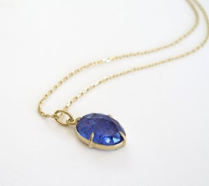 Image of Tanzanite Oval Faceted 18k Minimal Pendant Charm