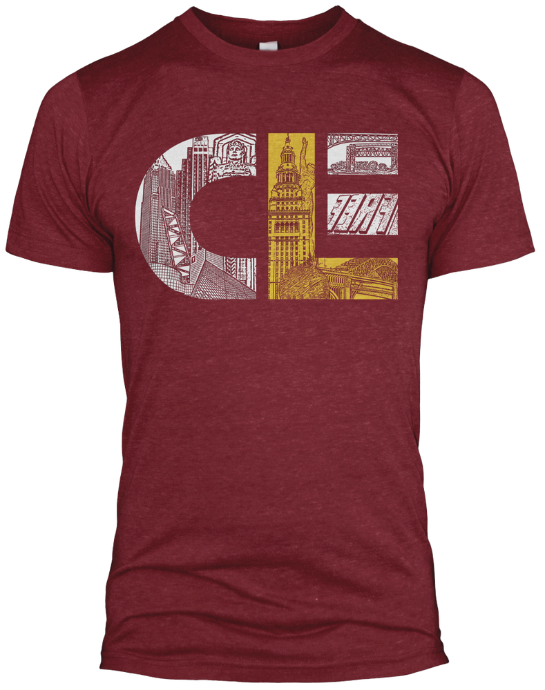 Image of CLE cavs Tri-blend