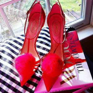 Image of Fur Pom Pom Shoe Clips