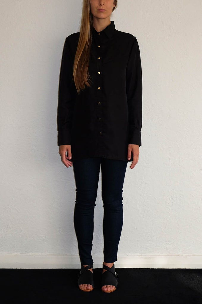 Image of CAMILLE SHIRT - BLACK