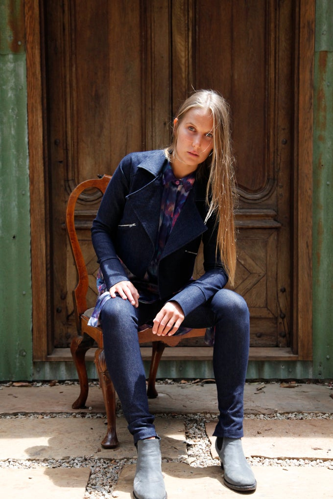 Image of EMMANUELLE JEANS - DARK DENIM