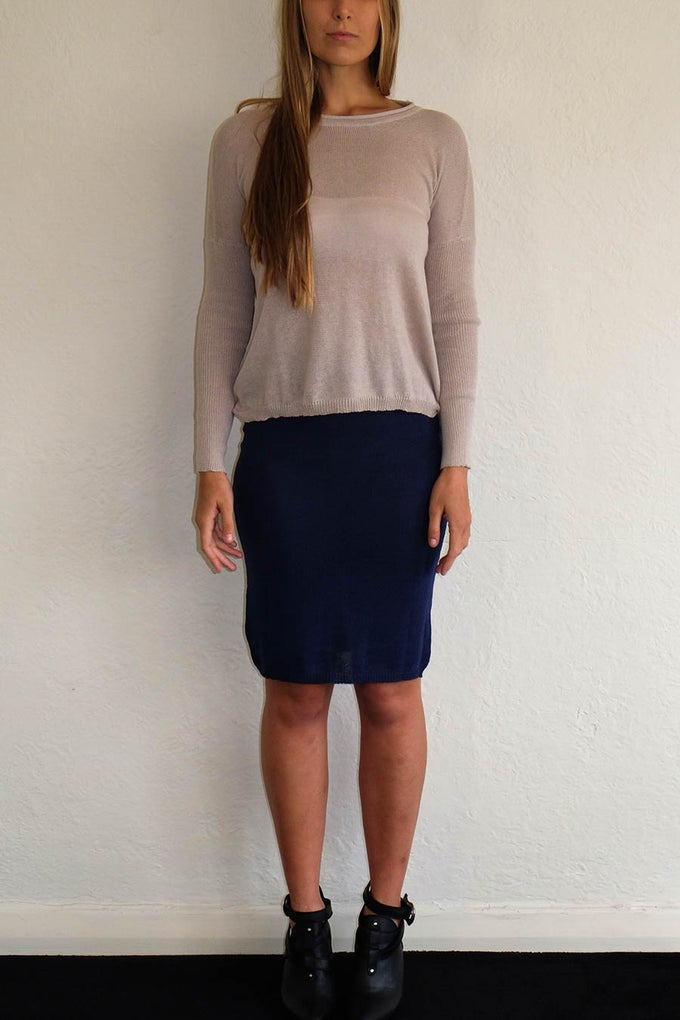 Image of TUBE SKIRT - NAVY