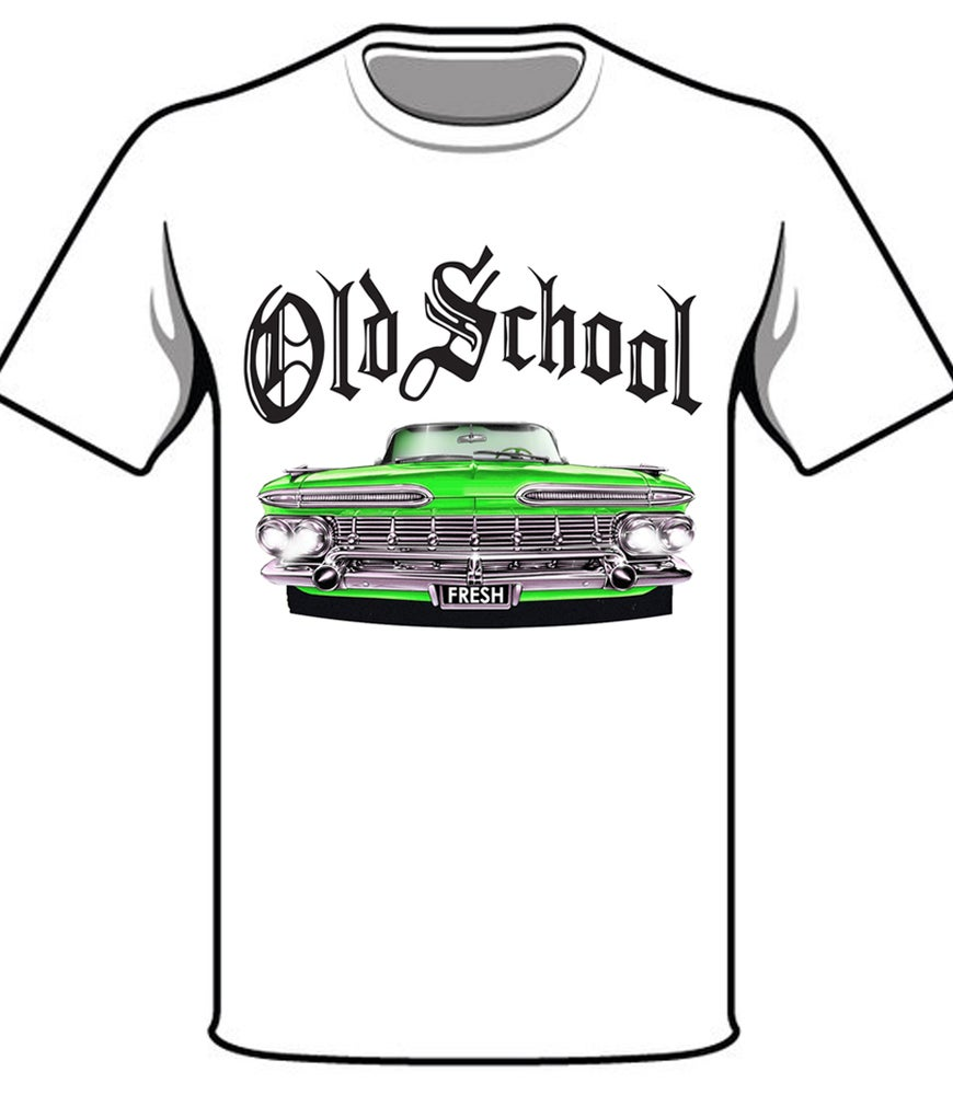 Image of GREEN CHEVY IMPALA - THUMP RECORDS T-SHIRT