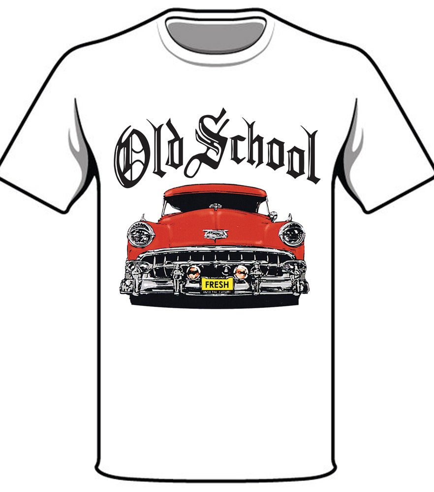 Image of #32 OS RED CAR WHITE TSHIRT