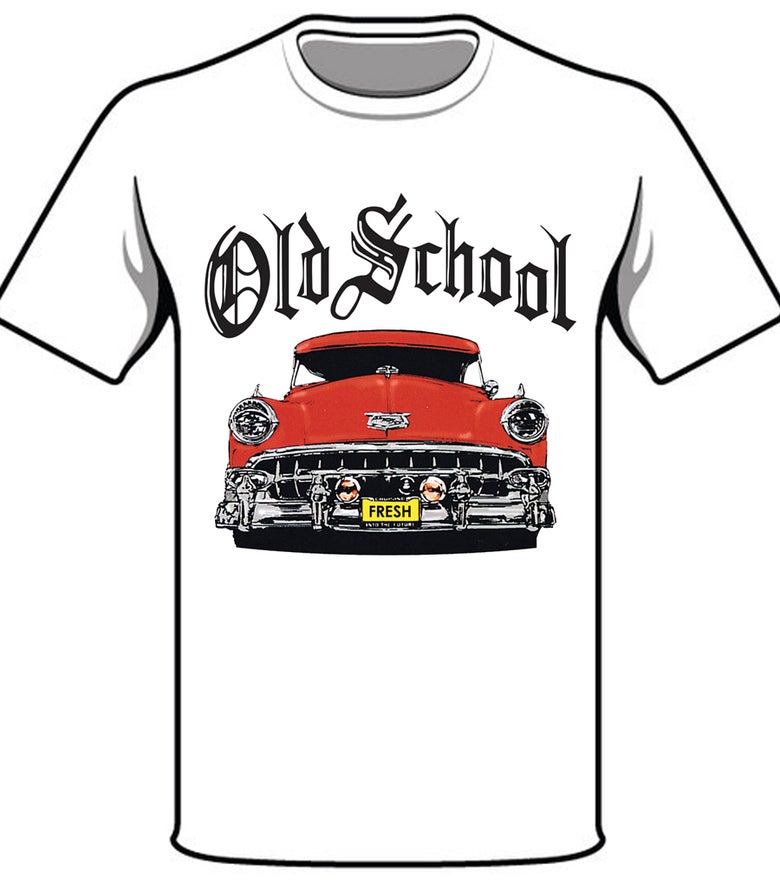 Image of #32W OS RED CAR WHITE TSHIRT