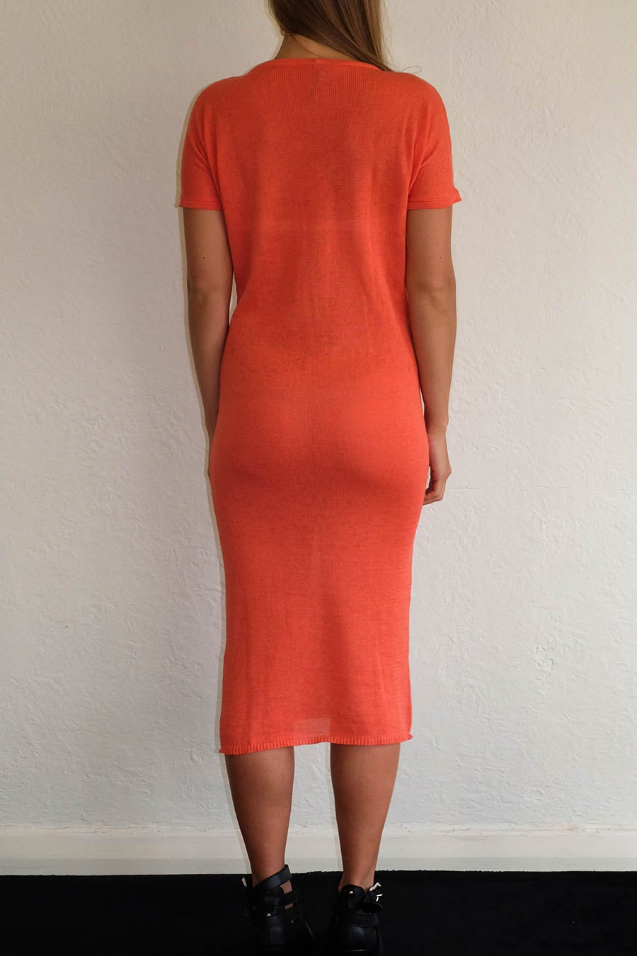 Image of ANKE MIDI DRESS - CORAL