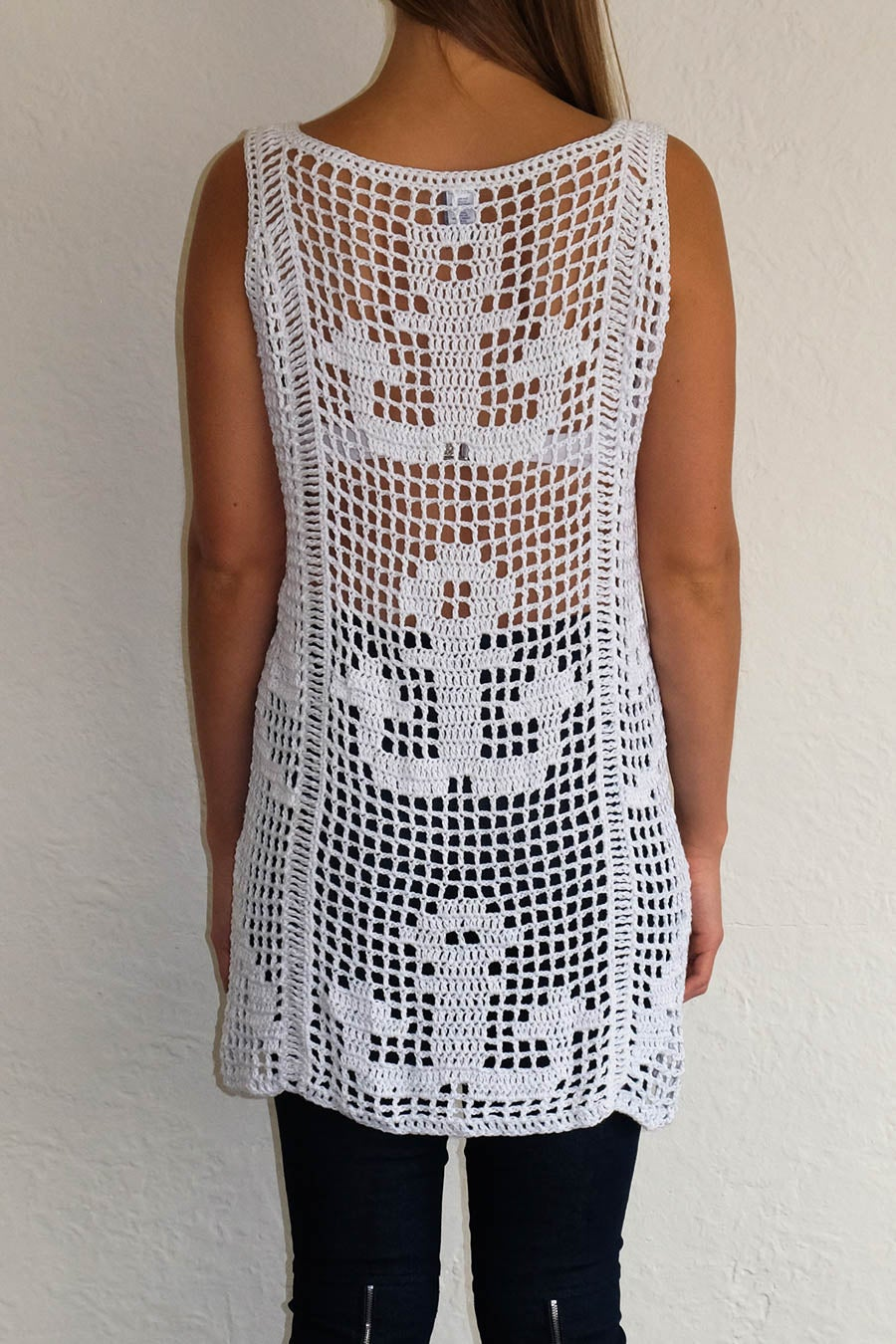 Image of ANCHOR DRESS - WHITE
